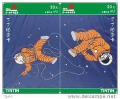 T04277 China Phone Cards Tintin Puzzle 2pcs - BD