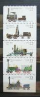 USA United States 1987 Trains Transport Steam Locomotives Locomotive Treni Set Of 5 MNH New FdS - United States