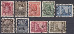 RODI (occupazione ITALIA) - 1932/1933 - Serie Completa Obliterata: Yvert 49/57; 9 Valori. - Egeo (Rodi)