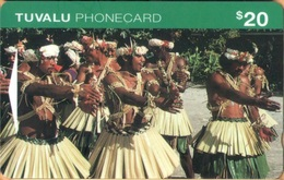 Tuvalu - GPT, OITICD, Men Doing Traditional Dancing, 20$, 10.000ex, 7/95, Used As Scan - Tuvalu