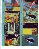 T04157 China Phone Cards Tintin 8pcs - BD