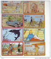 T04130 China Phone Cards Tintin 8pcs - Comics