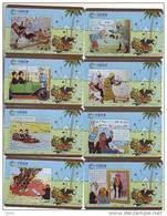 T04146 China Phone Cards Tintin 8pcs - Comics