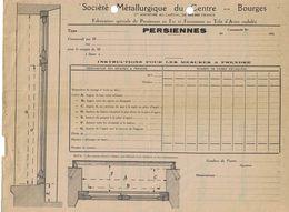 193? SOCIETE METALLURGIQUE DU CENTRE BOURGES FABRICATION SPECIALE DE PERSIENNES EN FER ET FERMETURES EN TOLE D'ACIER - France
