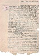 1939 ANNEXE BAIL PERRINE SAUVADET OCTOVE BRIOUDE ROLLAND JEAN ANTOINETTE FARREYRE LA RODDE ST JUST-PRES-BRIOUDE - France
