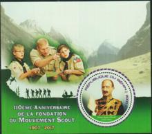 BENIN -  2017 - SCOUTS 110TH ANNIVERSARY SOUVENIR SHEET  MINT NEVER HINGED - Benin - Dahomey (1960-...)