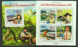 SIERRA LEONE - 2015  - WORLD SCOUT JAMBOREE SHEETLET OF 4 + SOUVENIR SHEET  MINT NEVER HINGED - Sierra Leone (1961-...)