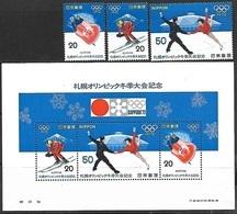 Japan   1972   Sc#1103-5a  Winter Olympics Set/souv Sheet  MNH   2016 Scott Value $3.30 - 1926-89 Empereur Hirohito (Ere Showa)