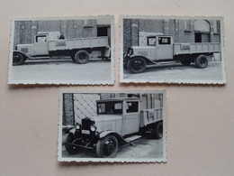 """Bouwmaterialen """" ALEX De CHAFFOY """" Haantjeslei ANTWERPEN - Old CAR / Vieux Voiture / Oude AUTO ( Zie Foto's ) 3 Stuks ! - Métiers"""