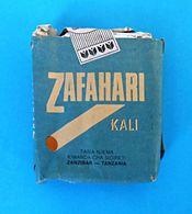 ZAFAHARI Kali - ZANZIBAR-TANZANIA - 20. Cigarettes Antique Empty Box Cigarette Zigaretten Sigarette Cigarrillos Cigarros - Contenitori Di Tabacco (vuoti)