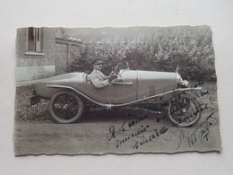 Officier Met Oude AUTO / Old Car / Automobile ( Kapitein Van CHAFFOY > 1932 )  ( Zie / Voir Photo ) 1 Stuk ! - Guerre, Militaire