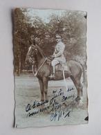 Officier Te Paard / Cheval / Horse ( Kapitein Van CHAFFOY > 1932 )  ( Zie / Voir Photo ) 1 Stuk ! - Guerre, Militaire