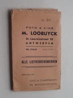 "Mapje / Sachet "" M. LOOBUYCK "" Antwerpen St. Laureisstraat 25 ( Zie / Voir Photo ) ! - Matériel & Accessoires"