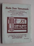 """Mapje / Sachet """" Photo Theo VERMEERSCH - Antwerpen Brederodestraat 50 ( Zie / Voir Photo ) ! - Supplies And Equipment"""