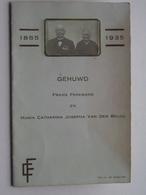 """"""" GOUDEN BRUILOFT """" 1885 - 1935 ' Frans PEREMANS & Maria VAN DEN BRUEL ( Zie / Voir Photo ) ! - Boda"""