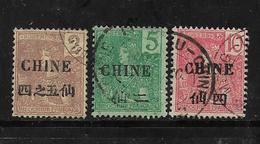 Colonie Francaise  Timbre De Chine  De 1904/05   N°64 + 65/66  Oblitérés - China (1894-1922)