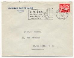 Enveloppe En-tête - Clinique Sainte Marie - TROYES (Aube) - OMEC Visitez Troyes 1959 - Advertising