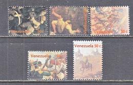 Venezuela  1296 A-f    **   SINGLES  FROM S/S   BATTLE  OF  SILVER  MT. - Venezuela