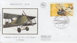 Enveloppe  FDC  1er  Jour   FRANCE   Avion  BREGUET   XIV    PARIS   1997 - FDC
