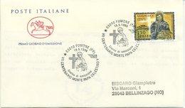 ITALIA - FDC  CAVALLINO 1996 - PAPA CELESTINO V - ANNULLO SPECIALE - F.D.C.