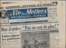 LA VIE DES METIERS Mécaniques & Ruraux  1er Octobre 1950  2 E Edition - Journaux - Quotidiens