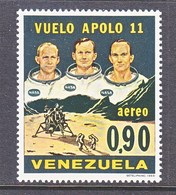 Venezuela  C 1019    **   APOLLO  11  SPACE  MOON  LANDING - Venezuela