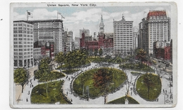 NEW YORK - UNION SQUARE - CPA NON VOYAGEE - Places & Squares