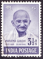 INDIA 1948 3.5a First Anniv Independence Violet SG306 FU - 1947-49 Dominion