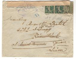 8972 - Pour La SUISSE - Marcophilie (Lettres)
