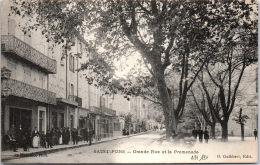 34 SAINT PONS - La Grande Rue Et La Promenade - Saint-Pons-de-Mauchiens