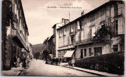 34 SAINT PONS - La Grande Rue Et Le Bureau De Poste - Saint-Pons-de-Mauchiens