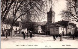 34 SAINT PONS - Vue Générale De La Place Du Foiral. - Saint-Pons-de-Mauchiens