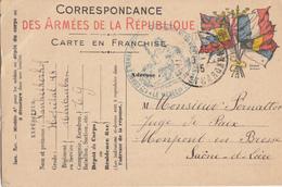 TARN ET GARONNE CPFM 1915 MONTAUBAN HOPITAL N°18 MONTAUBAN - Marcophilie (Lettres)