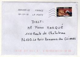 Enveloppe FRANCE Oblitération LA POSTE 38909A-02 18/10/2018 - Marcophilie (Lettres)