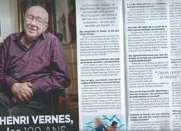 Henri Vernes - Bob Morane - Ciné-Télé Revue Du 11-10-2018 - Henri Vernes Fête Ses 100 Ans - Livres, BD, Revues