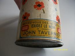 Boîte En Tôle Lithographiée John TAVERNIER Coquelicots - Boxes