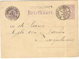 KLEINRONDSTEMPEL MIDDELBURG - HULPKANTOOR GRIJPSKERKE  4 MEI 1878 - Poststempels/ Marcofilie