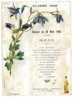 MENU PUB LIQUEUR DES PERES CHARTREUX DE TARRAGONE BANQUET CLASSE DE 1926 RESTAURANT DU PROGRES VARENNES-SUR-ALLIER 03 - Menus