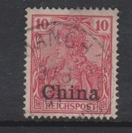 Germ-offices In China 1901 Regular Issue 10pf Carmine,used - Offices: China
