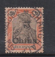 Germany-offices In China 1901 Regular Issue 50pf Orange And Black,used, - Offices: China