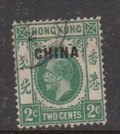 Hong Kong British Post Offices In China  1917  2c Green ,used, - Hong Kong (...-1997)