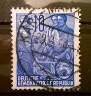 FRANCOBOLLI STAMPS GERMANIA GERMANY DEUTSCHE DDR 1953 SERIE LAVORATORI PIANO QUINQUENNALE - Usati