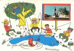 35 Nouvoitou, Carte Fantaisie Avec Photo, La Pêche Est Bonne, Carte Pas Courante - Autres Communes
