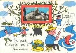 35 Nouvoitou, Carte Fantaisie Avec Photo, On Prend Ce Qu'on Veut, Carte Pas Courante - Autres Communes