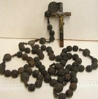 PL. 413. Grand Chapelet De Moine Ou Rosaire. Perles Ouvragées. Souvenir Du Jubilé De 1875 - Religion & Esotericism