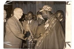 Photo Photographie Afrique Président Coty  Et Les Représentants De L'Union Française 1958 - Places