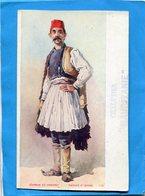 GRECE-paysan D'épire-illustrée-cachet De Chalutier+marine Française-années 1910+ - Grèce