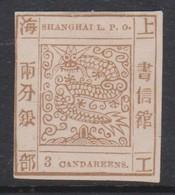 Shanghai 1865 3 Candareens Mint, - Unused Stamps