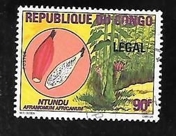 TIMBRE OBLITERE DU CONGO BRAZZA SURCHARGE LEGAL EN 1998 N° MICHEL 1555 - Congo - Brazzaville