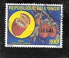 TIMBRE OBLITERE DU CONGO BRAZZA SURCHARGE LEGAL EN 1998 N° MICHEL 1557 - Congo - Brazzaville